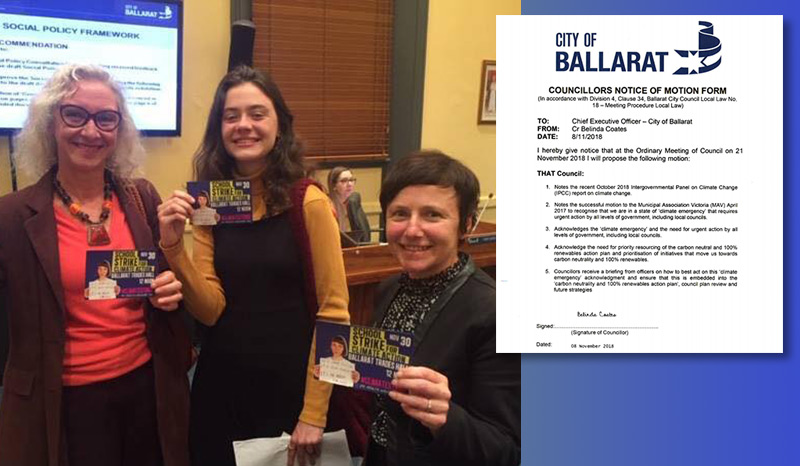 Ballarat City Council acknowledges the climate emergency
